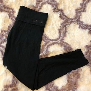 Victoria Secret PINK black yoga fold over legging